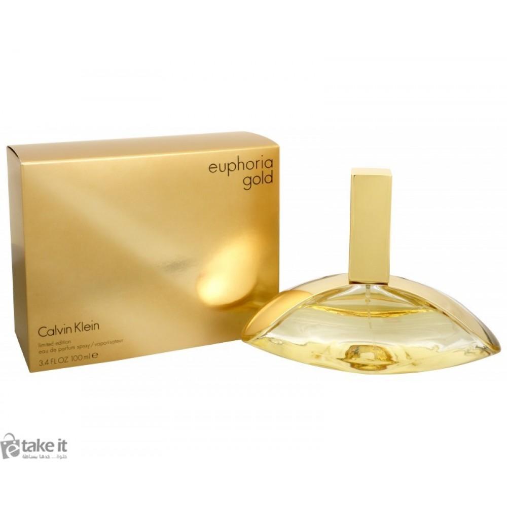 669f44272 عطر يوفوريا جولد من كالفن كلاين للنساء 100 مل Euphoria Gold Calvin Klein  for women ...