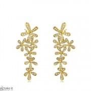حلق طويل ورود ذهبي earrings