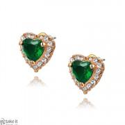 حلق قلب earrings